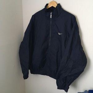 Vintage navy blue Nike windbreaker